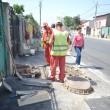 Pe strada Bariera Vâlcii se fac ultimele retușuri înainte de recepție (Foto: Traian Mitrache)