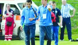 Antrenorii Daniel Mogoşanu (stânga) şi Victor Naicu sunt tot mai aproape să ducă pe CSU în Europa (Foto: Alexandru Vîrtosu)
