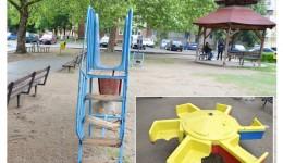 Unele dintre locurile de joacă din Craiova au mobilier vechi și rupt, fiind bune de casat