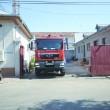 Pompierii doljeni au intervenit cu o autospecială pentru stingerea incendiului izbucnit într-o celulă a Penitenciarului Craiova (Foto: Traian Mitrache)