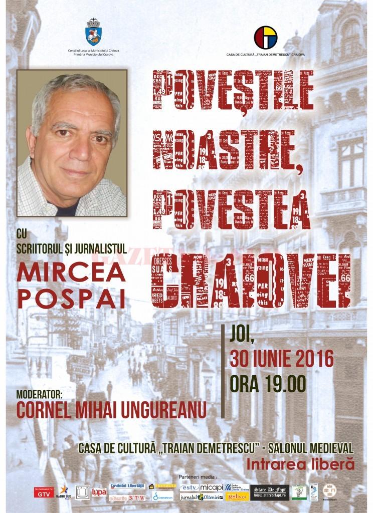 afis Povestile noastre, povestea Craiovei - Mircea Pospai