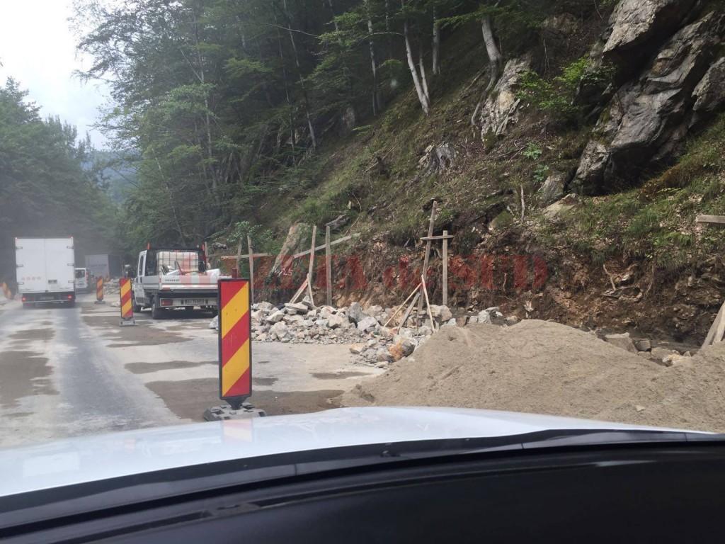 Drumul din Defileul Jiului este în modernizare (Foto: Eugen Măruță)