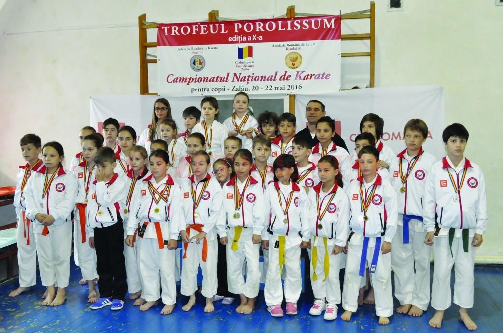 Micuţii karateka de la Clubul Sportiv Washi s-au remarcat din nou, la Campionatul Naţional de la Zalău