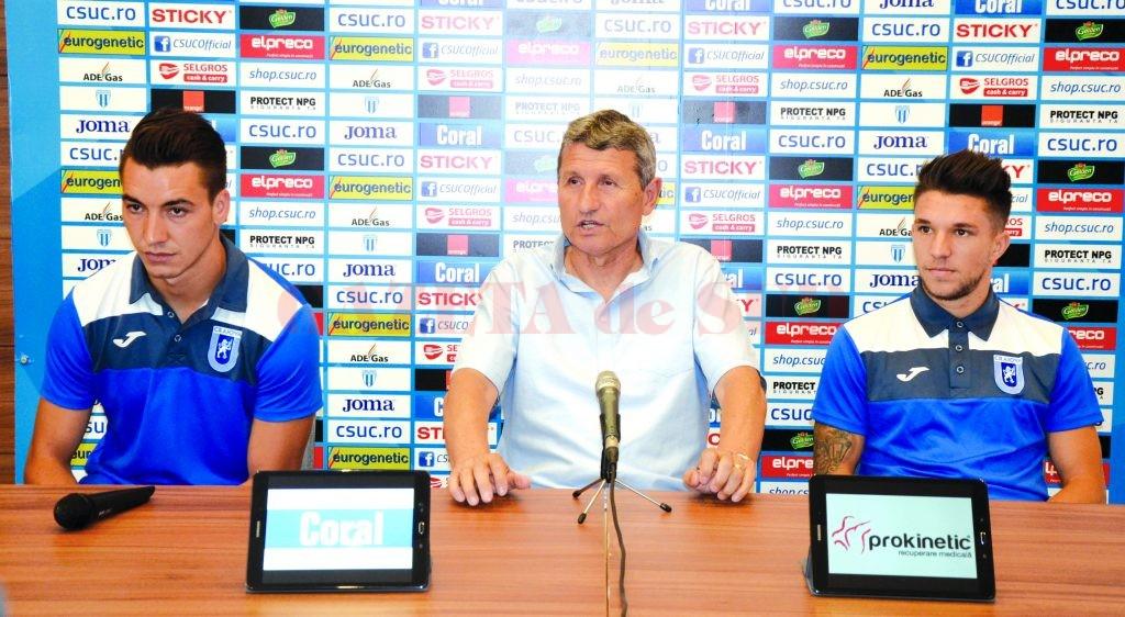 Mateiu, Mulțescu și Băluță nu concep decât victoria în meciul cu ASA Târgu Mureș (Foto: Alexandru Vîrtosu)