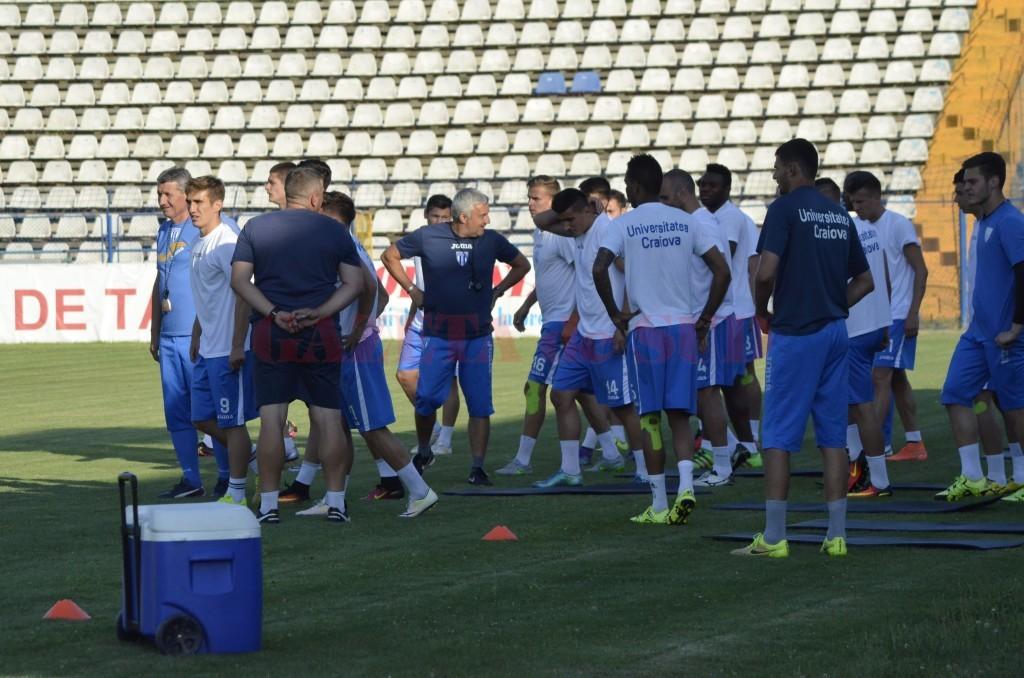 Alb-albaștrii încep retușurile pentru meciul cu Pandurii (foto: Alexandru Vîrtosu)
