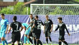 Măzărache şi Zlatinski (în centru) au marcat două goluri importante pentru moral în partida cu Zenit (Foto: csuc.ro)