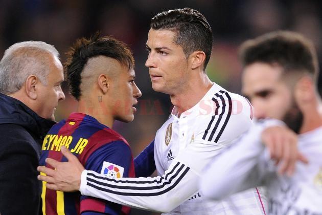 Neymar (în roșu și albastru) a recunoscut superioritatea lui Ronaldo