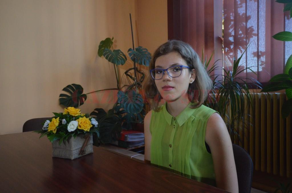 Georgiana Iustina Mateescu, singura elevă din Dolj care a obținut media 10 la bacalaureat (Foto: Traian Mitrache)