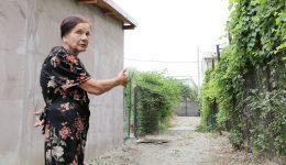 Elena Manolescu susține că a fost lăsată fără apă și canalizare de vecini (Foto: Bogdan Grosu)
