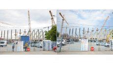 Provocare pentru craioveni: găsiţi diferenţa dintre cele două fotografii, prima (stânga) realizată pe 5 iulie 2016, iar cea de-a doua pe 25 iulie 2016 (Foto: GdS)