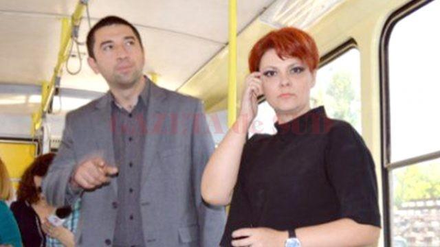 Radu Cosmin Preda, fost administrator public al Craiovei, alături de primarului municipiului, Lia Olguța Vasilescu