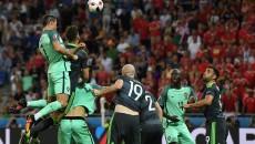 Cristiano Ronaldo a deschis drumul Portugaliei spre finala CE cu o lovitură de cap imparabilă (foto: uefa.com)