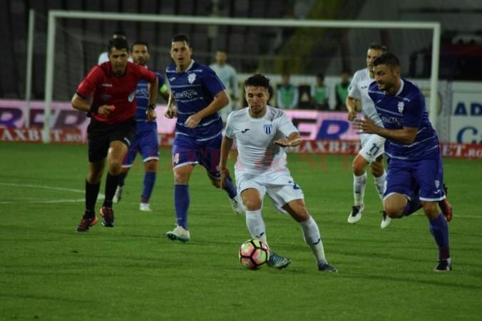 Băluţă şi colegii săi nu au ştiut să gestioneze meciul de la Timişoara (foto: csuc.ro)