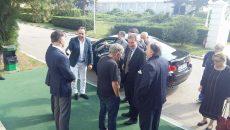 Bobby Păunescu (al doilea din stânga), la întâlnirea cu Günther H. Oettinger (centru), comisarul european al economiei  şi societăţii digitale (Foto: Curierul Naţional)