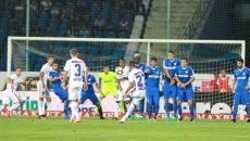 Pandurii (în albastru) au luptat, dar nu s-au ales cu nimic din confruntarea cu Steaua (Foto: dolce-sport.ro)
