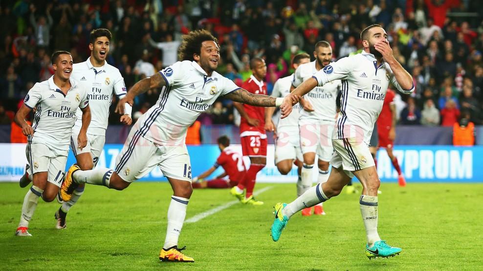 Dani Carvajal a făcut diferenţa în meciul cu Sevilla din Supercupa Europei (foto: uefa.com)