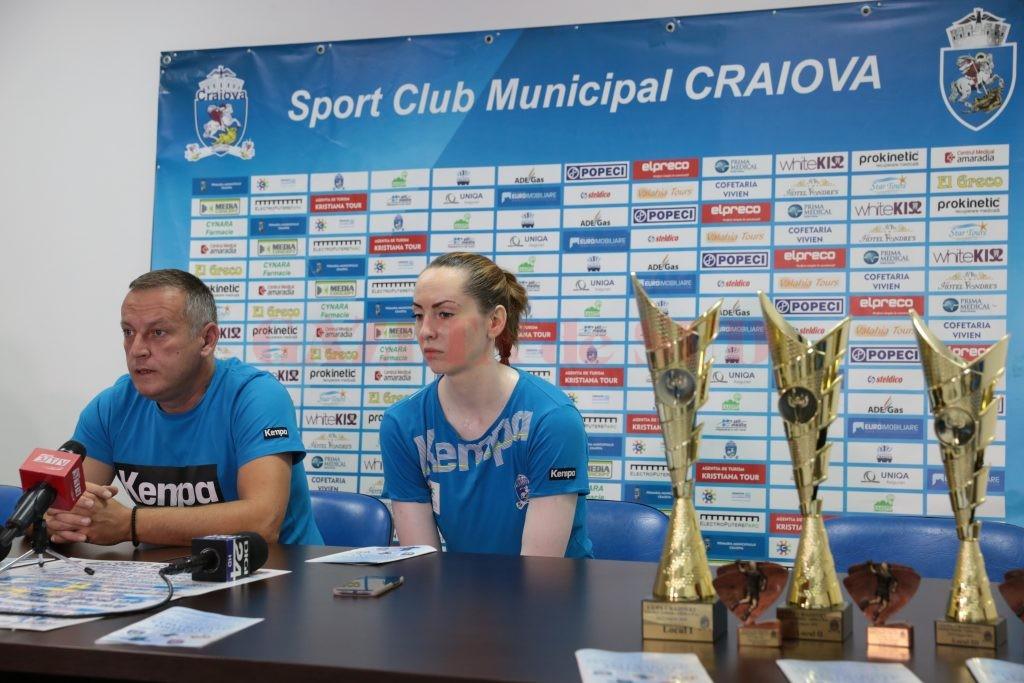 Bogdan Burcea și Mirela Pașca au vorbit despre Cupa Craiovei (foto: Lucian Anghel)