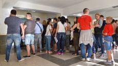 Cozile persistă la Serviciul de Pașapoarte (Foto: Bogdan Grosu)