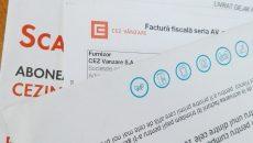 Facturile CEZ au doar 15 zile termen de scadență pentru persoanele fizice  și 10 zile pentru firme (FOTO: Ramona Olaru)
