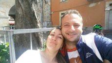 Aurelia Dăogaru și soțul său, Fabio Graziani,  au fost surprinși de cutremur în localitatea Amatrice (Foto: Facebook Aurelia Dăogaru)