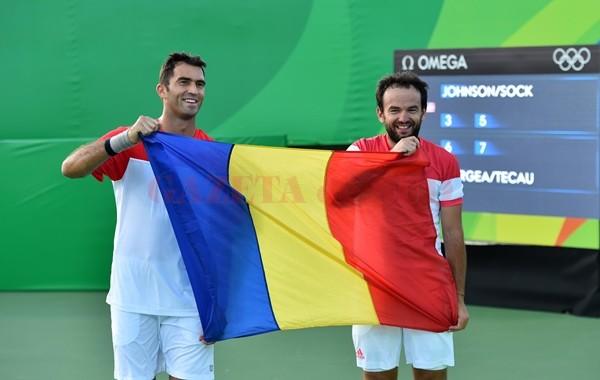 Horia Tecău și Florin Mergea încearcă să cucerească medalia de aur la Rio (foto: FRT)