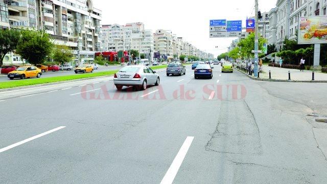 Pe Calea București au apărut și marcajele rutiere,  în urma articolului apărut zilele trecute în GdS  (Foto: Claudiu Tudor)