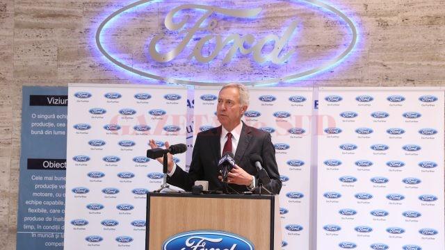 Ambasadorul SUA la București, Hans Klemm, a spus la Ford Craiova că salută aprobarea Master Planului de Transport de către guvern