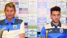 Antrenorul Gigi Mulţescu şi Alex Băluţă au vorbit despre meciul cu Steaua, unul special pentru craioveni (Foto: Alexandru Vîrtosu)
