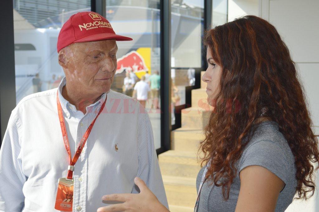 Alexandra a primit sfaturi preţioase de la celebrul Niki Lauda