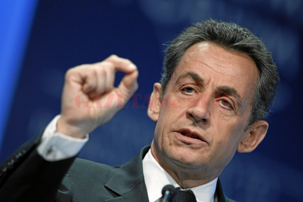 DAVOS/SWITZERLAND, 27JAN11 - Nicolas Sarkozy, President of France, gestures during the session 'Vision for the G20' at the Annual Meeting 2011 of the World Economic Forum in Davos, Switzerland, January 27, 2011.Copyright by World Economic Forum swiss-image.ch/Photo by Moritz Hager