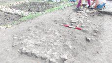 Săpăturile arheologice în castrul roman de la Răcari s-au concentrat asupra clădirii comandamentului