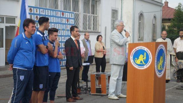 Marcel Popescu (președintele CS Universitatea Craiova) le-a vorbit elevilor despre performanță
