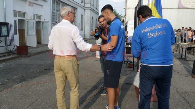 Antrenorul Dan Podeanu îi dă sfaturi prețioase lui Andrei Ivan