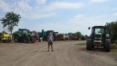 Agricultorii din comuna doljeană Leu spun că seceta le-a afectat culturile, dar și însămânțările pentru culturile viitoare (Foto: Bogdan Grosu)