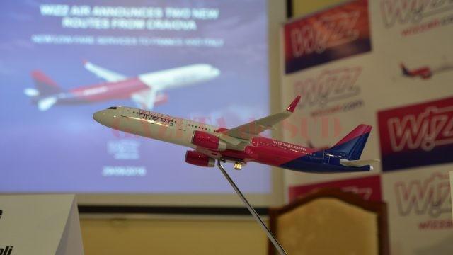 Wizz Air va zbura din Craiova în șapte destinații din patru țări, în total, din martie 2017