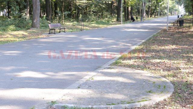 Unele bănci de pe aleile din Parcul Tineretului s-au rupt, altele au dispărut de pe amplasament
