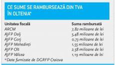 Ce sume se rambursează din TVA  în Oltenia*