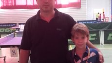 Patrick Anghel, alături de antrenorul său, Liviu Nicoli