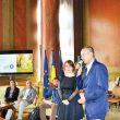 Raluca Anghel, director în cadrul ANT, alături de Cosmin Popescu, preşedintele CJ Gorj
