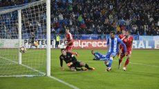Portarul Brănescu a fost neputincios la ambele goluri ale Craiovei (Foto: Alexandru Vîrtosu)