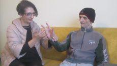 Florentina Badea, alături de tatăl său
