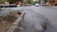 Pe strada Dr. Mihail Cănciulescu, asfaltul nu a rezistat prea mult, după ce s-a intervenit la o avarie  (Lucian Anghel)