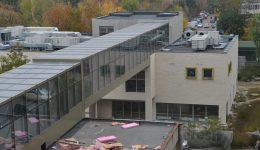 Clădirea din curtea SJU Craiova unde va funcționa Clinica de Cardiologie Intervențională și Chirurgie Cardiovasculară este gata în proporție de 80 la sută (Foto: Bogdan Grosu)