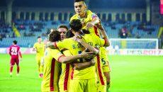 Naţionala României are una dintre cele mai bune ofensive în acest început de preliminarii, cu şase goluri marcate şi doar unu primit  ()