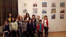 Copii premiati pentru lucrarile de pictura