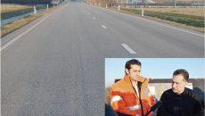 Cătălin Homor, directorul CNADNR (stânga) şi ministrul transporturilor, Sorin Buşe, au vizitat Centura de Sud sperând că o pot inaugura. Asfaltul vălurit ar putea fi o problemă la recepţie (FOTO: Claudiu Tudor)