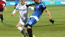Craioveanul Alex Cioablă (la minge) continuă cu FC Viitorul în Cupa României, în detrimentul echipei Pandurii
