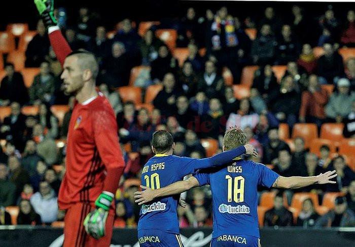 """Aspas și Wass au marcat pe """"Mestalla"""" (Foto: ojo.pe)"""