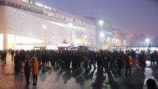 Sute de craioveni au ieşit în stradă (Foto: Lucian Anghel)