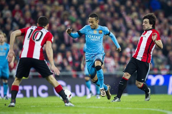 Neymar și colegii săi au găsit cu greu drumul spre gol la Bilbao